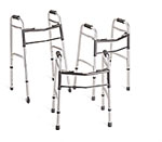 Two-Button Folding Walker, Junior with 3in Wheels (Case of 4)