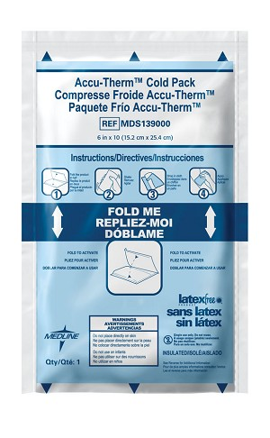 "Heavy-Weight Accu-Therm Cold Packs, 4""X6"" (Case of 16)"