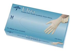 Ultra Powder-Free Stretch Synthetic Exam Gloves, Latex-Free