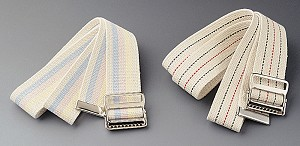 "Transfer Belt(s) w/ Buckle, 60""  Blue and Red Stripes (Case of 6)"