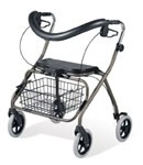 Envoy 485B Bariatric Rolling Walker, Blue