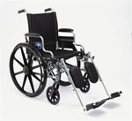 Excel K4 Wheelchair w/ Swing Back Arms and Detachable Footrests (18