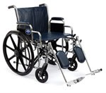 Excel Heavy Duty Wheelchair w/Removable Full Length Arms and Detachable Elevating Legrests (20