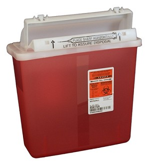 Sharps Container 5Qt Transparent